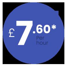 £7.60 per hour