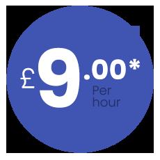 £9 per hour